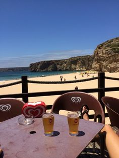 Relaxing at Praia Beliche. Portugal