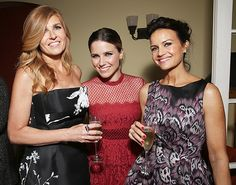 Connie Britton, Sophia Bush, and Carla Gugino made for a stunning trio at the afterparty for the L.A. premiere of Me, Earl And The Dying Girl on June 3 at the Chateau Marmont.