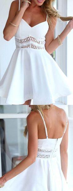 Short Prom Dresses, White Prom Dresses, Lace Prom Dresses, Sexy Prom dresses, Prom Dresses Short, Homecoming Dresses B0138