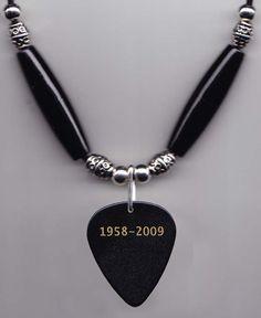 Michael Jackson 2011 Tribute Concert Guitar Pick Necklace