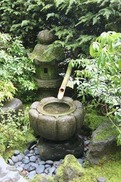 Zen Garden asijská kultura japonská atmosféra rákos rybník kámen lucerna