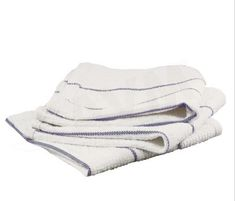 5 new white bath towels pacific mills 24x48 100/% cotton absorbent fast dry