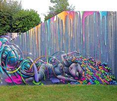 Foto: • ARTIST . VINIE •  ◦ Full Colorz ◦ collaboration: RÉA #streetart