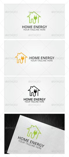 Home Energy Logo — Photoshop PSD #fix #repair • Available here → https://graphicriver.net/item/home-energy-logo/8103015?ref=pxcr