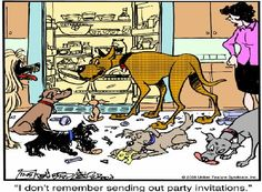 Marmaduke has a party with his friends Dog Cartoons, Cartoon Dog, Dog Comics, Big Guys, View Source, Funny Sayings, Mans Best Friend, Peanuts, Make You Smile