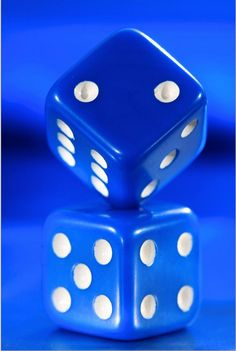 blue&white.quenalbertini: Blue Dices