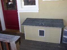 Outdoor cat box... freaking genius!