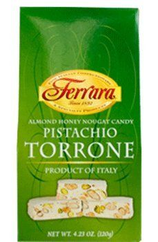 Ferrara - Italian Pistachio Torrone (Almond Honey Nougat Candy), (2 ...