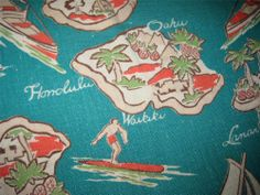 VINTAGE 1930'S TROPICAL PATTERN HAWAIIAN SHIRT -RARE 1930'S PENNEY'S LABEL- NR #ShirtsTops