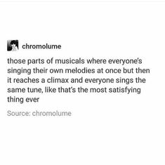 """In Non-Stop when everyone goes from their own songs to singing """"History has its eyes on you"""" all together Theatre Jokes, Theatre Nerds, Music Theater, Hamilton Musical, Out Of Touch, Fandoms, Broadway Theatre, Dear Evan Hansen, Thats The Way"""