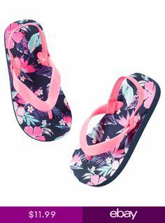 a470bf07d carters toddler baby girl blue pink floral flip flop slipper shoe w back  strap