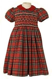 42b8721dfd7db Little girl s tartan dress Vintage Kids Clothes