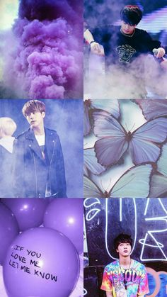 Kpop Wallpaper Asthetic Purple - SeokJin - BTS