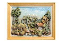 Mountain Landscape with Running Stream - Relief Oil Painting (original) Mountain Paintings, Mountain Landscape, Original Paintings, Oil Paintings, Oil Painting On Canvas, Cool Artwork, Shadow Box, Art Forms, Wall Murals