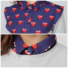 Bubble Heart Blouse Collar // Storets.com // #STORETS #Accessories #Fashion #Cute