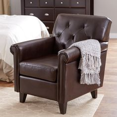 Found it at Joss & Main - Kevin Leather Arm Chair