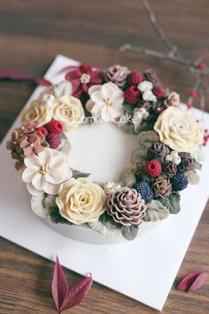 https://www.instagram.com/bomnalcake/  by BOMNAL CAKE #Flowercake, #cake, #peony, #dessert, #food, #birthdaycake, #buttercreamcake, #buttercream, #flower