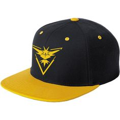 Pokemon Go, Pokemon Go Hat, Pokemon Go Team Yellow, Pokemon Go Team,... ($20) ❤ liked on Polyvore featuring accessories, hats, yellow cap, yellow hat and cap hats