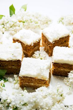 Carrot cake with coconut cream cheese filling - amazing!