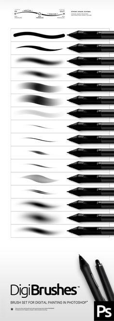 Digital Photoshop Brushes. Download here: http://graphicriver.net/item/digital-brushes/15815663?ref=ksioks