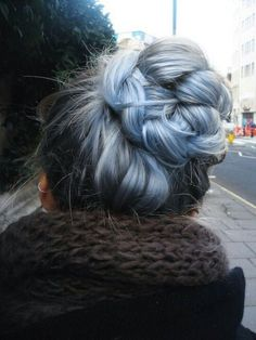 Blue Grey Ombre Hairstyle