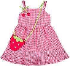 Florence Eiseman Sleeveless Gingham Seersucker Dress, Pink/White, Size 2-6