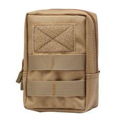 전술 몰리 가방 600D 나일론 파우치 휴대용 야외 휴대 전화 지갑 여행 군사 스포츠 허리 팩
