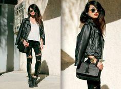 Olivia Lopez in Moto Zip Crop Jacket