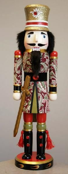 N1521: 15 inch Paisley Jacket Nutcracker. 8 pieces of 15 inch Nutcrackers are included in this order.