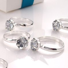 x12 engagement rings table confetti /party favours. a pack of 12