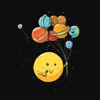 Solar Balloons Tee Outter Space Shirt – Oh NO Pluto is floating away! Iphone Wallpapers, Wallpaper Iphone Cute, Wallpaper Backgrounds, Planets Wallpaper, Galaxy Wallpaper, Tumblr Girly, Funny Doodles, Funny Illustration, Cute Cartoon Wallpapers