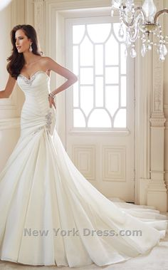 Sophia Tolli Y21446 Dress - Beautiful satin dress. Simple with a little bling