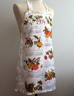 Metro Retro Vintage Tea Towel Linen / by MerryGoRoundHANDMADE, $42.95