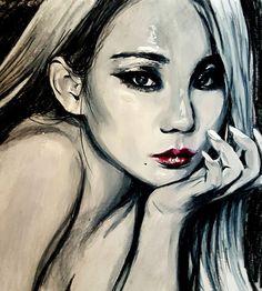 CL the baddest female kpop 2ne1 prismacolor pencils fanart lee chaerin illustration