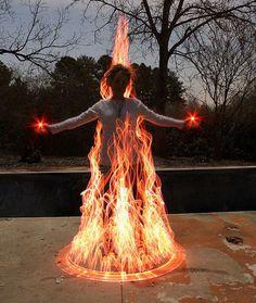 """Painting with lights- Cool """"fire""""!"""