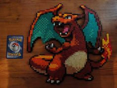 Charizard Pokemon Perler Bead Sprite by PokePerlers on Etsy, $23.00