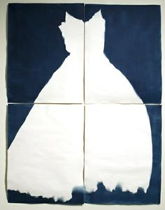 Lucy Capehart - My Mother's Red Taffeta Evening Gown - cyanotype 2011