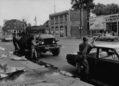 The summer Detroit burned: Powerful TIME images show aftermath of race riots of 1967 State Of Michigan, Detroit Michigan, Detroit Riots, Detroit History, Detroit Area, Time Images, Life Pictures, National Guard, Thing 1 Thing 2