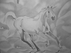 Large Unicorn Drawing 16x20 by sonyaart on Etsy