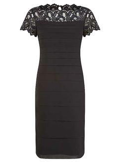 Jacques Vert Lace Yoke Chiffon Dress