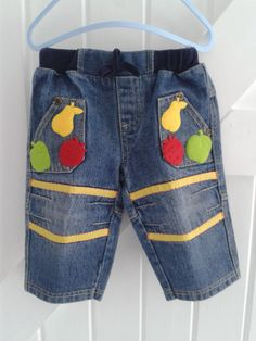 BABY BLUES 'fruity bands' Jeans 6-9 mths    £10.00
