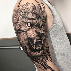 """Lion do Rafael """"o cara mais forte do mundo"""" rsrs muito mano valeu mesmo Feito na @inkonik_tattoo_studio #electricink"""