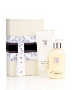Beautiful gift set in Petal - a feminine and light scent. www.zents.com