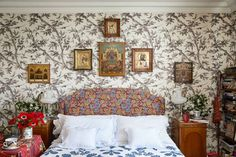 Home Textile, Textile Design, Georgian Buildings, Brass Bed, London House, Fabric Houses, Other Rooms, Elle Decor, American