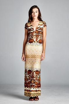 Claudia Dress in Sepia