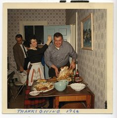 Over the years Rita honed those turkey carving skills she learned in her mother's kitchen and was always first in line to offer a helping knife, I mean, hand.