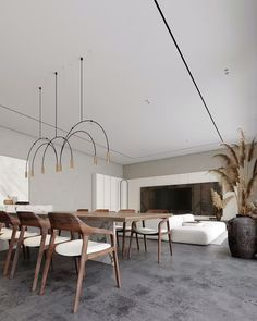 Home Room Design, House Design, Cafe Design, Design Design, Open Plan Kitchen Dining Living, Dining Room, Interior Architecture, Interior Design, Interior Ideas