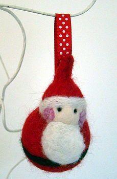 Father Christmas needle felt bauble
