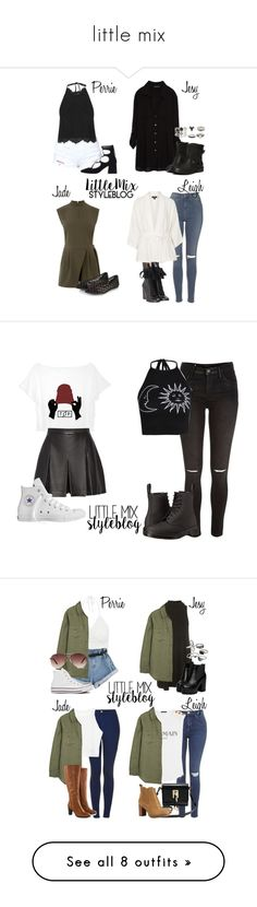 """""""little mix"""" by laislasantosferreira ❤ liked on Polyvore featuring Oasis, Zara, Topshop, Chloé, Accessorize, O2 Denim, River Island, Boohoo, Dr. Martens and Proenza Schouler"""