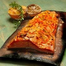 Grilled Jack Daniels Salmon.    * 2 Salmon fillets (enough for 3 to 4 servings)  * 1/2 c Jack Daniels whiskey  * 1/2 c brown sugar  * 1/4 c soy sauce  * 2 tablespoons honey  * 1/2 tsp ground ginger  * Salt & pepper, to taste  * Aluminum foil